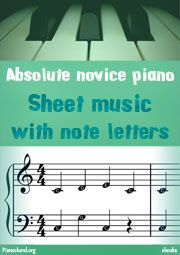 Sheet Music with Note Letter ebook cover